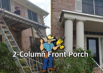 2_Column Front Porch_Before and After