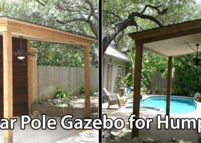 Cedar Pole Gazebo for Humphry