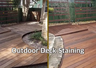 Outdoor Deck Staining_Before and After