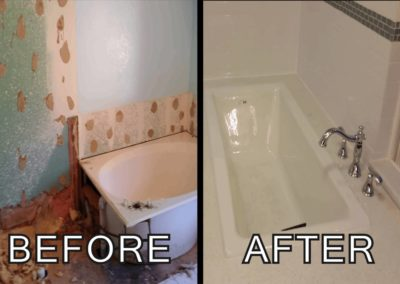 Bathroom renovation _ custom tub