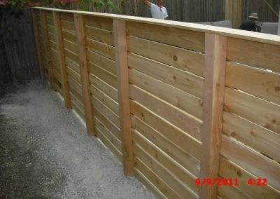 Custom Horizontal Cedar Fence 2