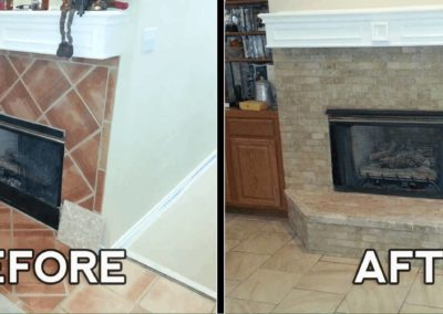 Fire Place_Remodel_Raised_Brinda_Before_After