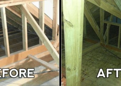 Mr. Done Right _ Attic Decking 2 _ before & after