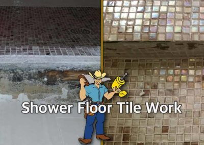 Shower Tile Floor_Before and After